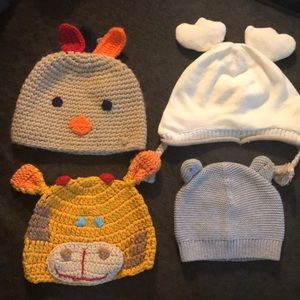 Infant Hats - With ears (4 pack)